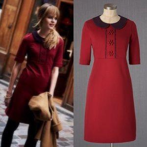 Anthropologie💕Boden Burgundy Embellished Dress 12
